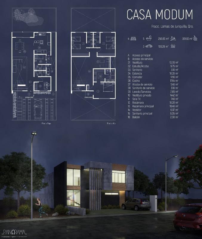 Portfolio Modern Home Design: Amazing Architectural Presentation Sheets #1