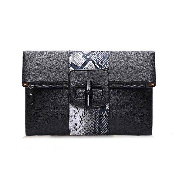 Yoins Snake Effect Fold Over Clutch Bag (175 NOK) ❤ liked on Polyvore featuring bags, handbags, clutches, yoins, black, python handbag, shoulder handbags, snakeskin purse, shoulder bag purse and fold over purse