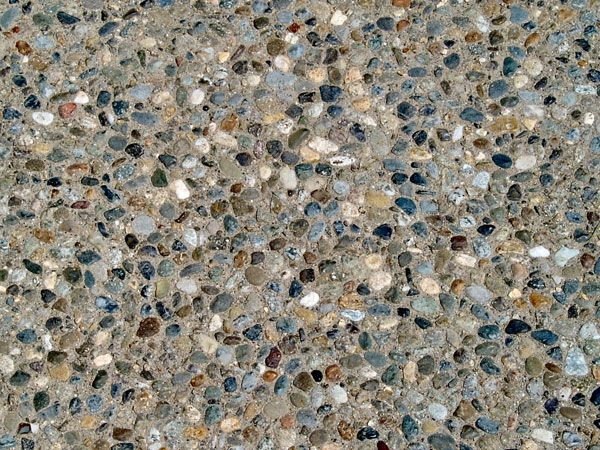 Exposed aggregate concrete backyard pinterest for Exposed concrete floor