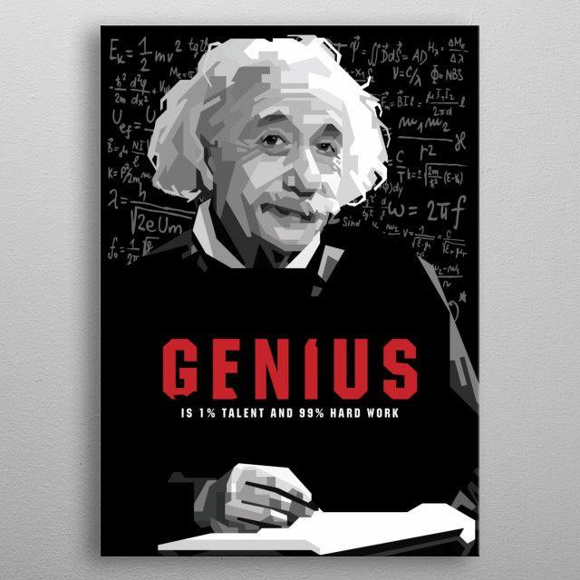 einstein genius by ICAL SAID WPAP | metal posters - Displate | Displate thumbnail