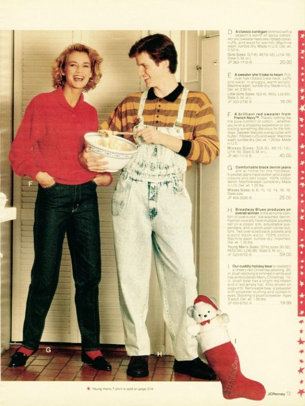 862ceec00d Page from a 1990 JC Penney Holiday catalog.  catalog