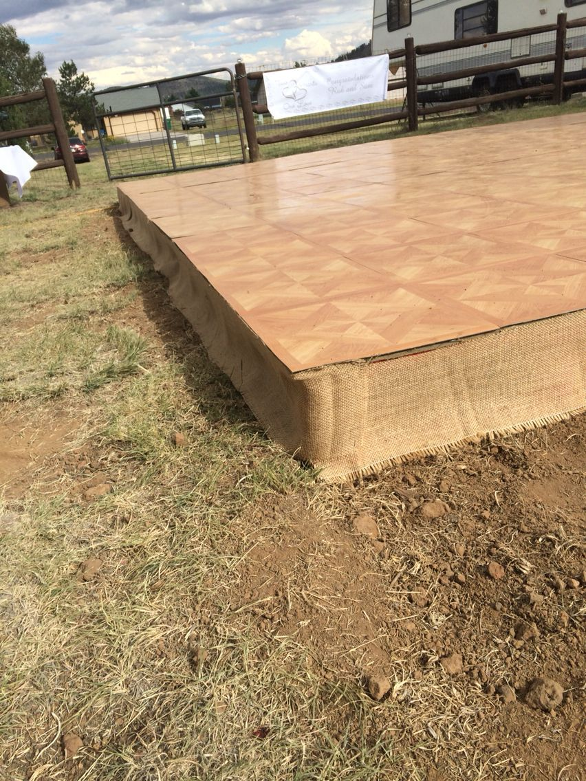 A Dance Floor From Pallets Plywood And Laminate Outdoor Dance Floors Dance Floor Wedding Pallet Dance Floor Diy backyard dance floor