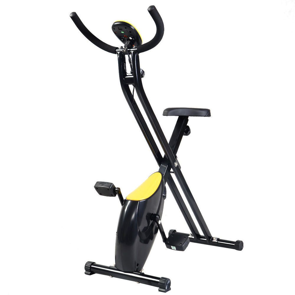 Details About Small Folding Indoor Stationary Exercise Bike