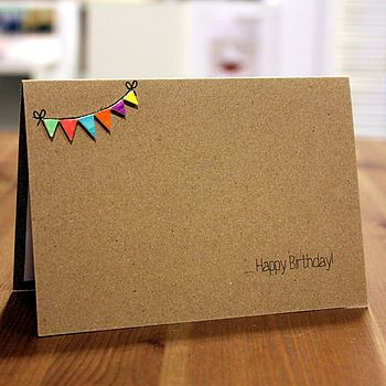 Personalised Happy Birthday Card With Bright Bunti
