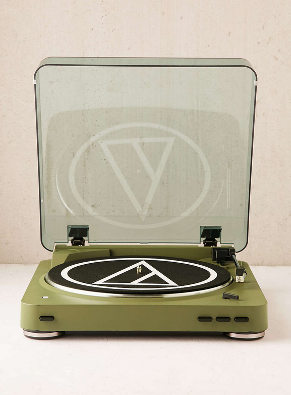 Audio Technica X Uo Olive At Lp60 Bluetooth Record Player