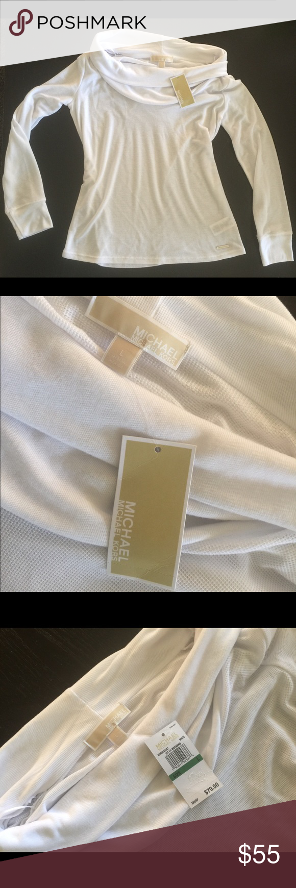 Michael Kors off the shoulder long sleeve Soft brand new Michael Kors off the shoulder long sleeve. Still has tags, bought it in December and I just never wore it. Michael Kors Tops