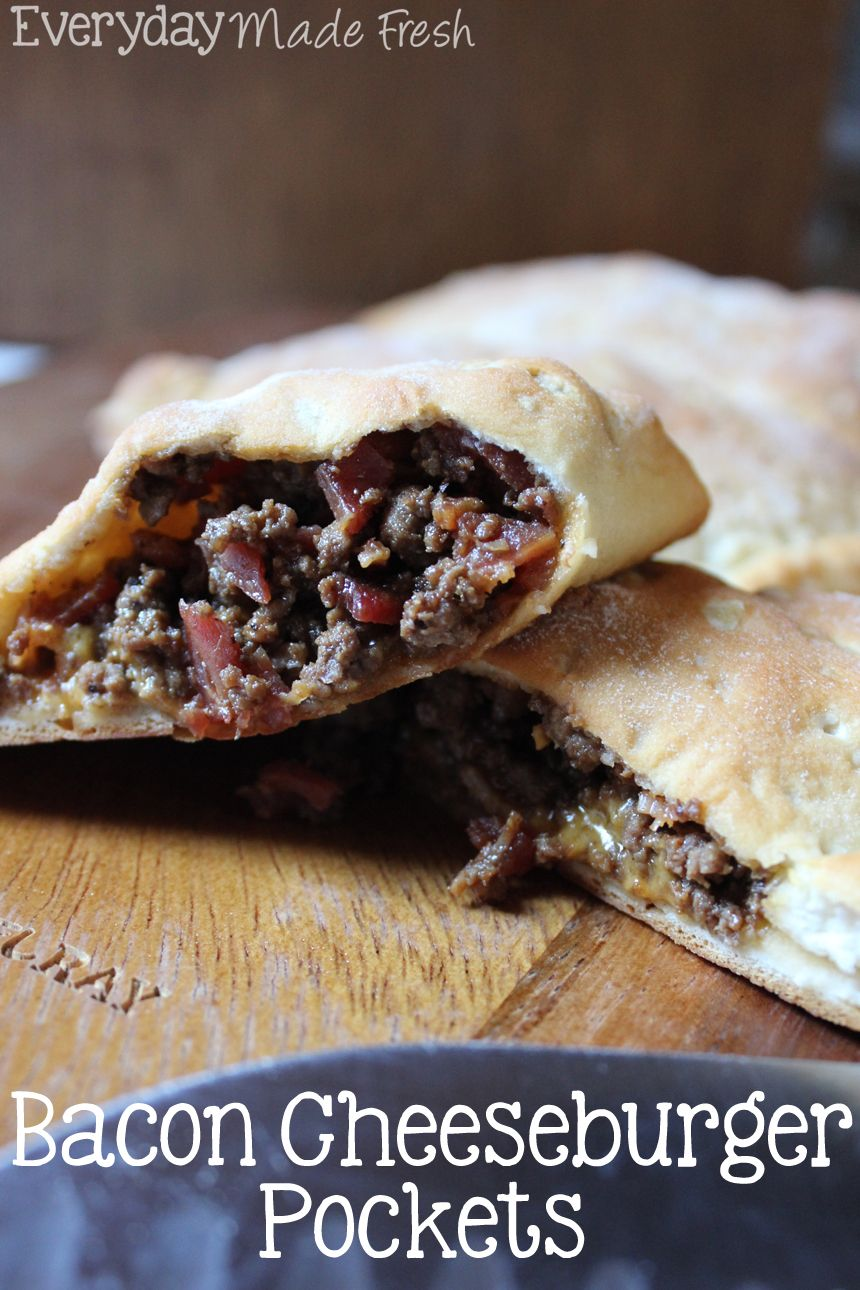 Canned Biscuits make these Bacon Cheeseburger Pockets fast, simple, and guaranteed to be loved by everybody!