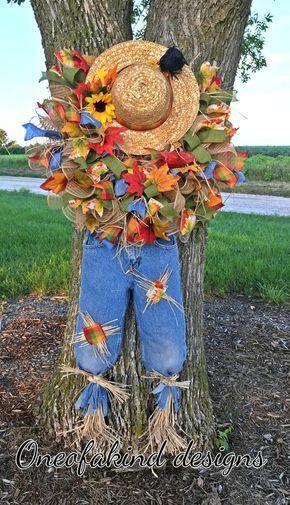 Scarecrow Wreath Tutorial, scarecrow wreath DIY, h