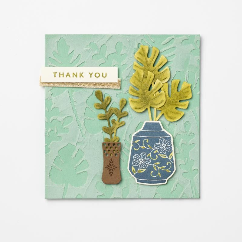 Masked Embossing Paste Card