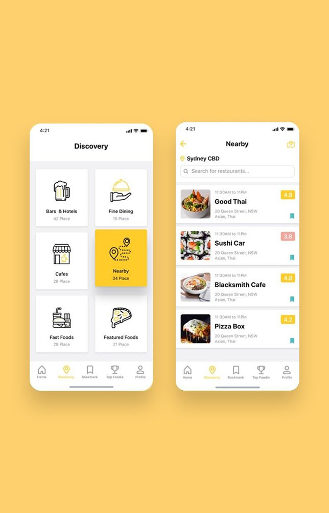 Foodiez Restaurant App UI Kit #userinterface