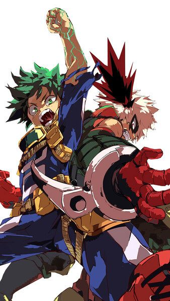Izuku Midoriya Katsuki Bakugo My Hero Academia 4k Hd Mobile Smartphone And Pc Desktop Laptop Wallpaper 3840x2160 1920x My Hero Hero My Hero Academia Manga