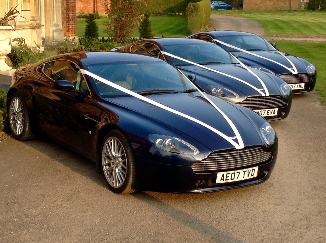 Aston Martin wedding cars for the Groom and his Best Man ...