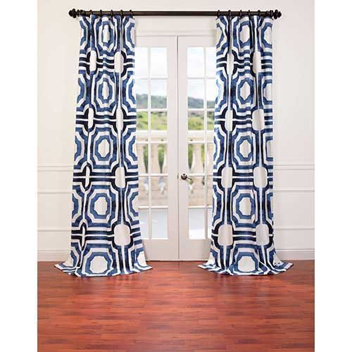 Mecca Blue 84 X 50 Inch Curtain Single Panel Panels & Panel Sets Window Treatments Home D