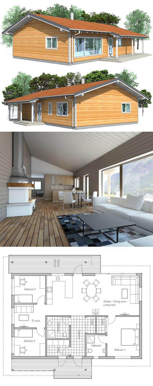 Casa Economica Ch32 House Plans Architecture House House Design