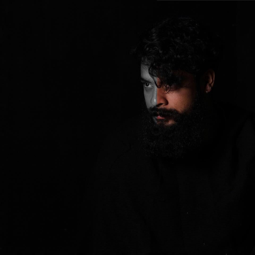 Image May Contain 1 Person Beard And Night Black Photography Profile Picture Photography