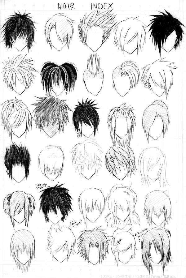 Resultado De Imagen De Como Dibujar Cabello De Hombre Bap