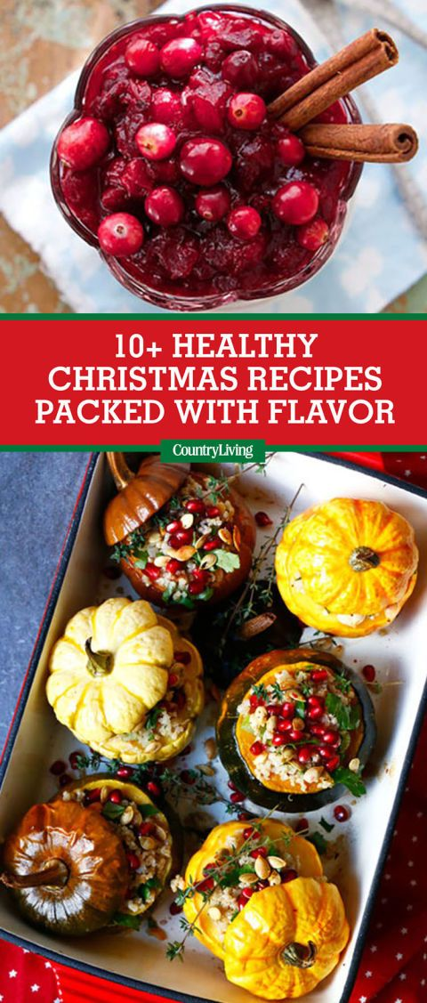 save these healthy christmas recipes for later by pinning this image and follow country living on pinterest for more