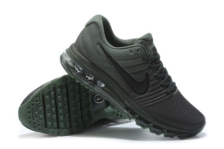 Nike Air Max 2017 Men Mesh Army Green Shoes