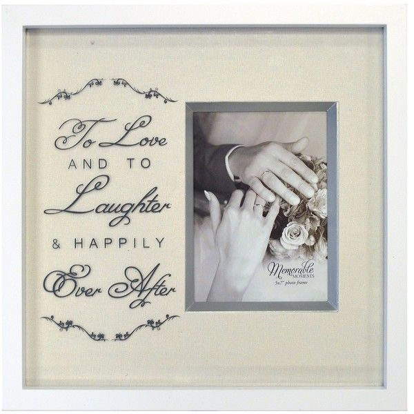 To Love and to Laughter Wedding Picture Frame, 5x7 ($20) ❤ liked on ...