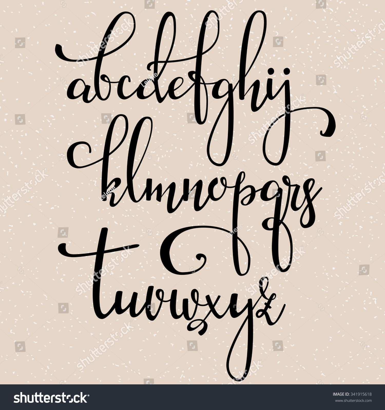 Stock Vector Handwritten Brush Style Modern Calligraphy Cursive