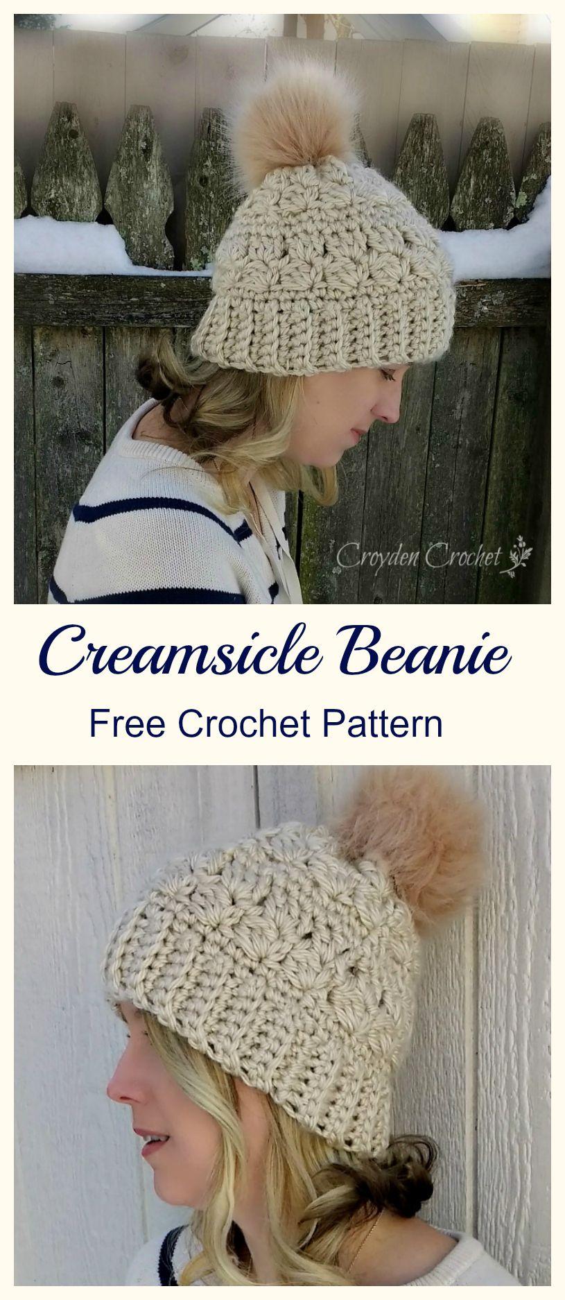 Creamsicle Beanie | Häkelmuster, Stricken und Häkeln