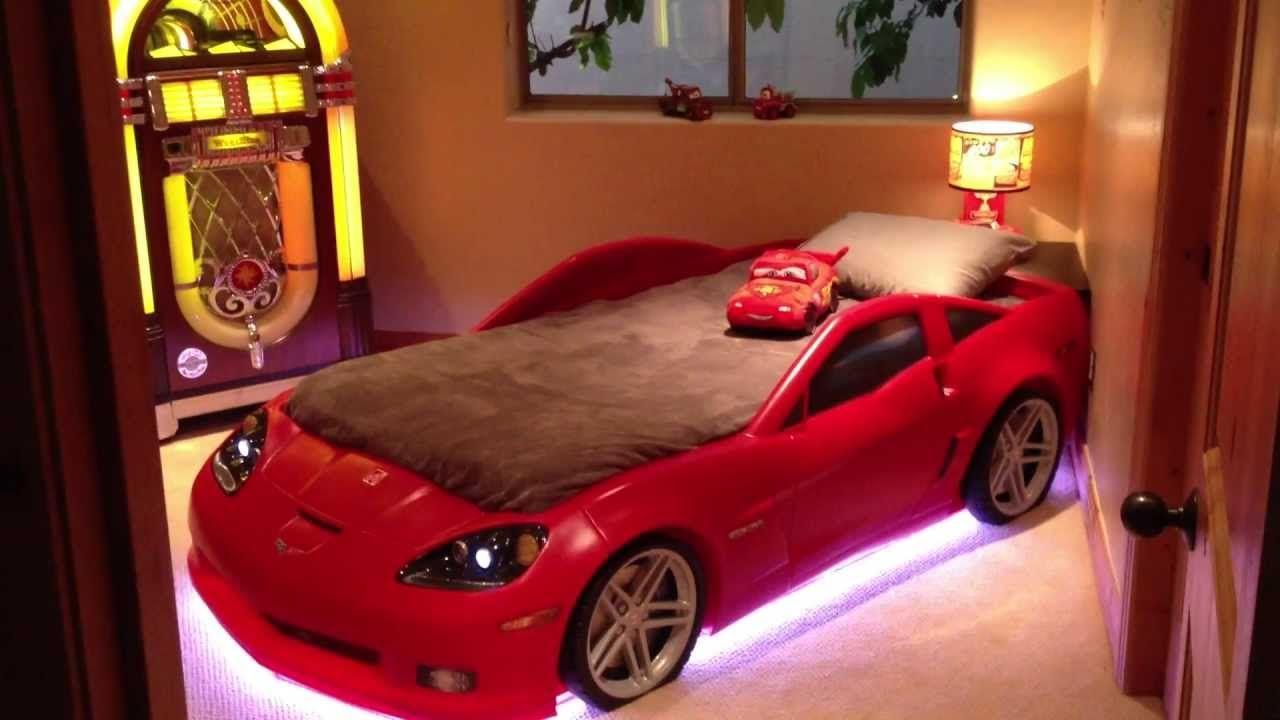 Corvette Bed With Lights Cars Bedroom Set Car Bed Car Bed Frame