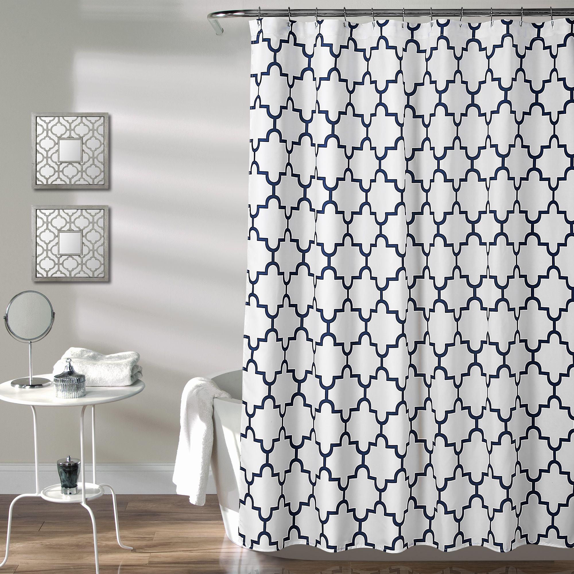 Bellagio Shower Curtain Geometric Shower Curtain Lush Decor