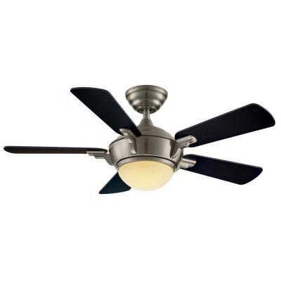 Hampton bay midili 44 in indoor brushed nickel ceiling fan with hampton bay midili 44 in indoor brushed nickel ceiling fan with light kit and remote control aloadofball Image collections