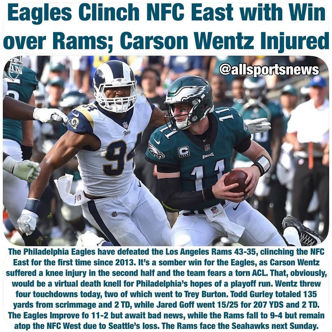 #PhiladelphiaEagles #Eagles #Philadelphia #LosAngelesRams #Rams #LARams  #CarsonWentz #NFL