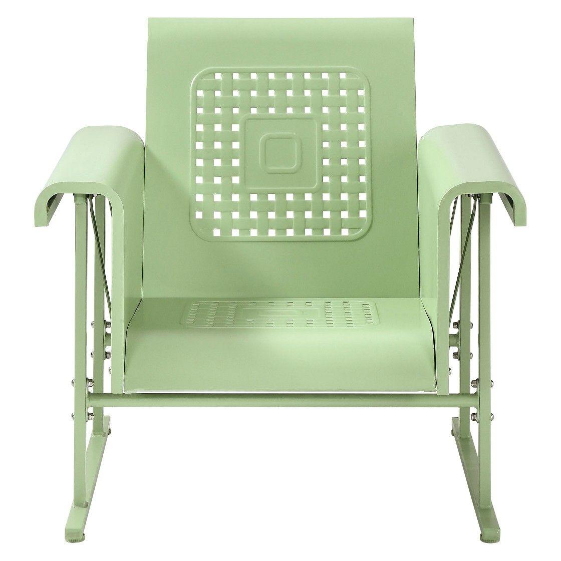 Superbe Crosley Veranda Metal Single Patio Glider Chair
