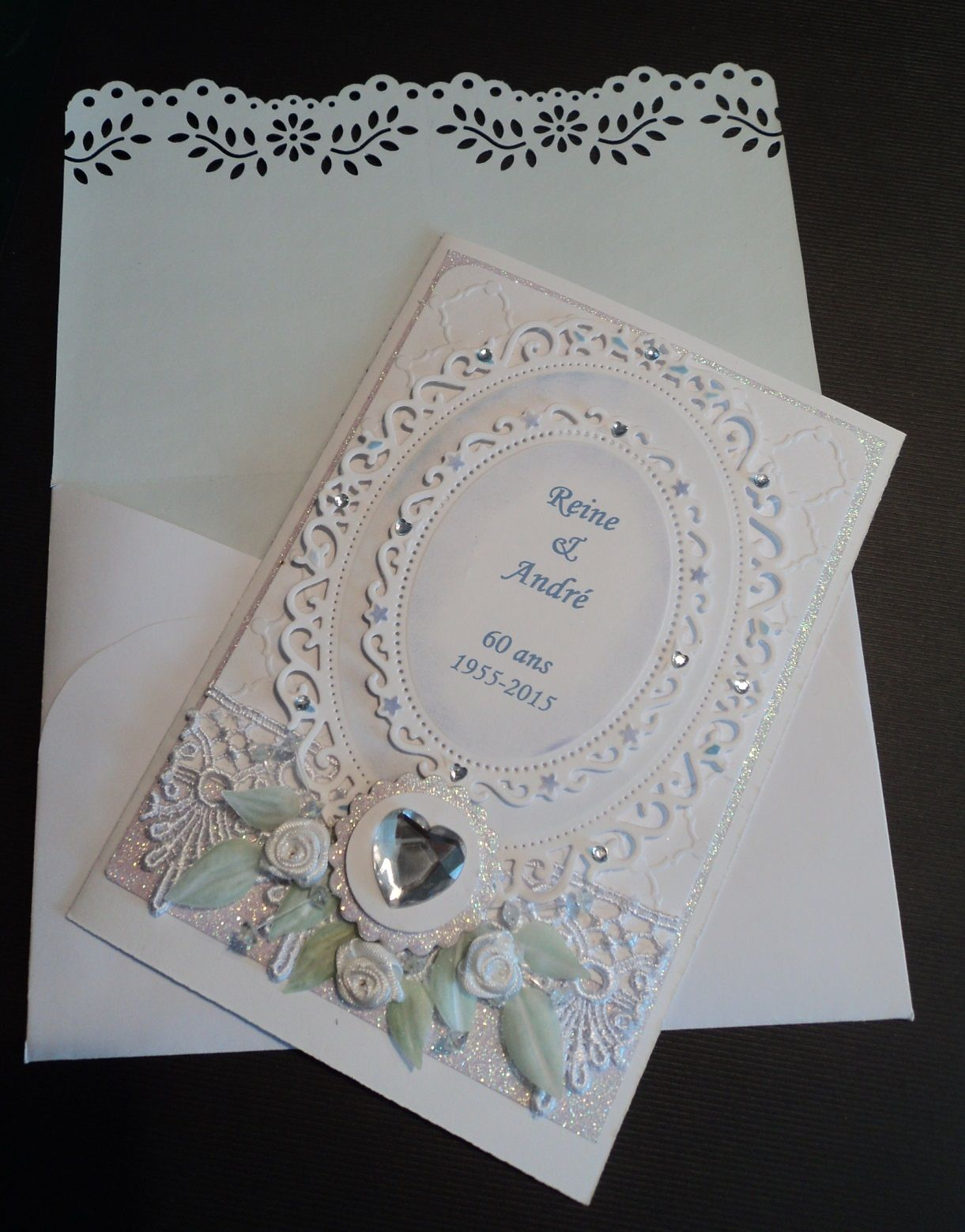 Card Making Ideas For 60th Anniversary Part - 23: Card For The 60th Anniversary Of My Husbandu0027s Parents.