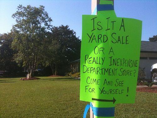Creative Yard Sale Sign Yard Sale Signs Funny Garage Sale