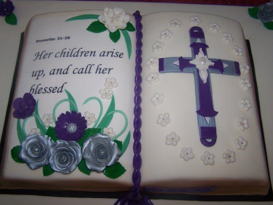 Bible Verse Cake cake by Ladybug9 Bible cake, Book