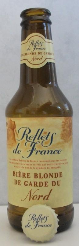 Cerveja Reflets de France Bière Blonde de Garde Du Nord, estilo Biere de Garde, produzida por Brasserie Duyck, França. 6% ABV de álcool.