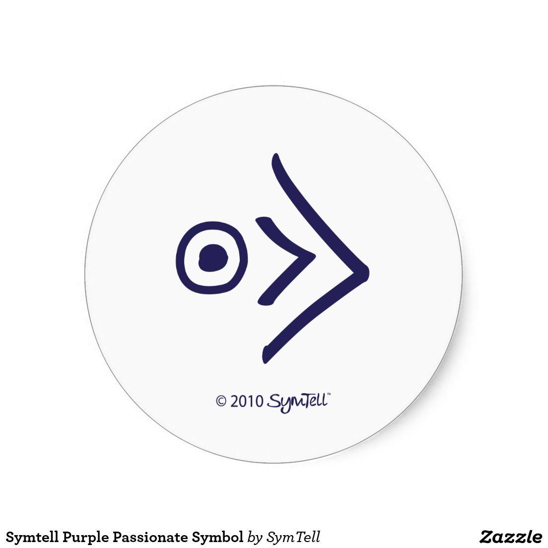 Symtell purple passionate symbol classic round sticker round symtell purple passionate symbol round sticker biocorpaavc Gallery