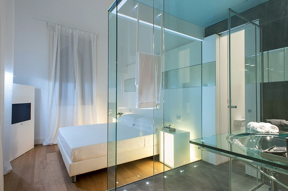 Hotels Unique Open Wall Bedroom Bathroom Design Interior In Amusing Open Bathroom Bedroom Design Review