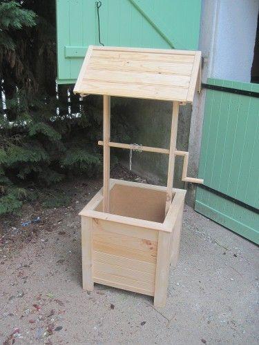 Puit de jardin en bois jardins en bois elle peut et hauteur for Puits decoratif jardin