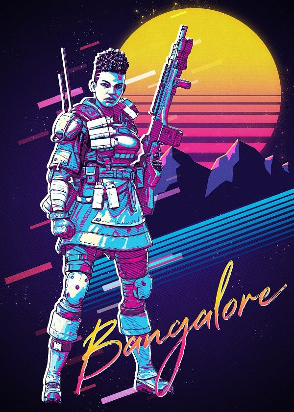 "Apex Legends Retro 80s Characters Bangalore #Displate explore Pinterest""> #Displate artwork by artist ""Ninja… 
