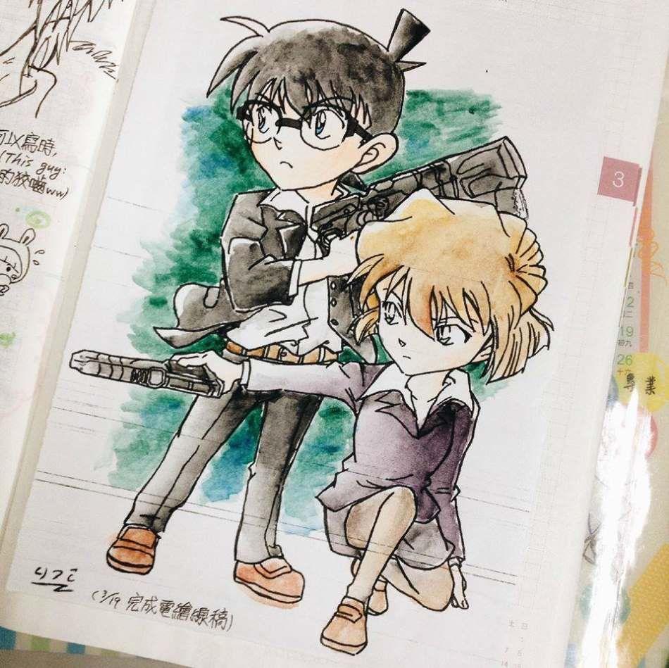 Metantei Conan, Fan art, Edogawa Conan, Haibara Ai ...