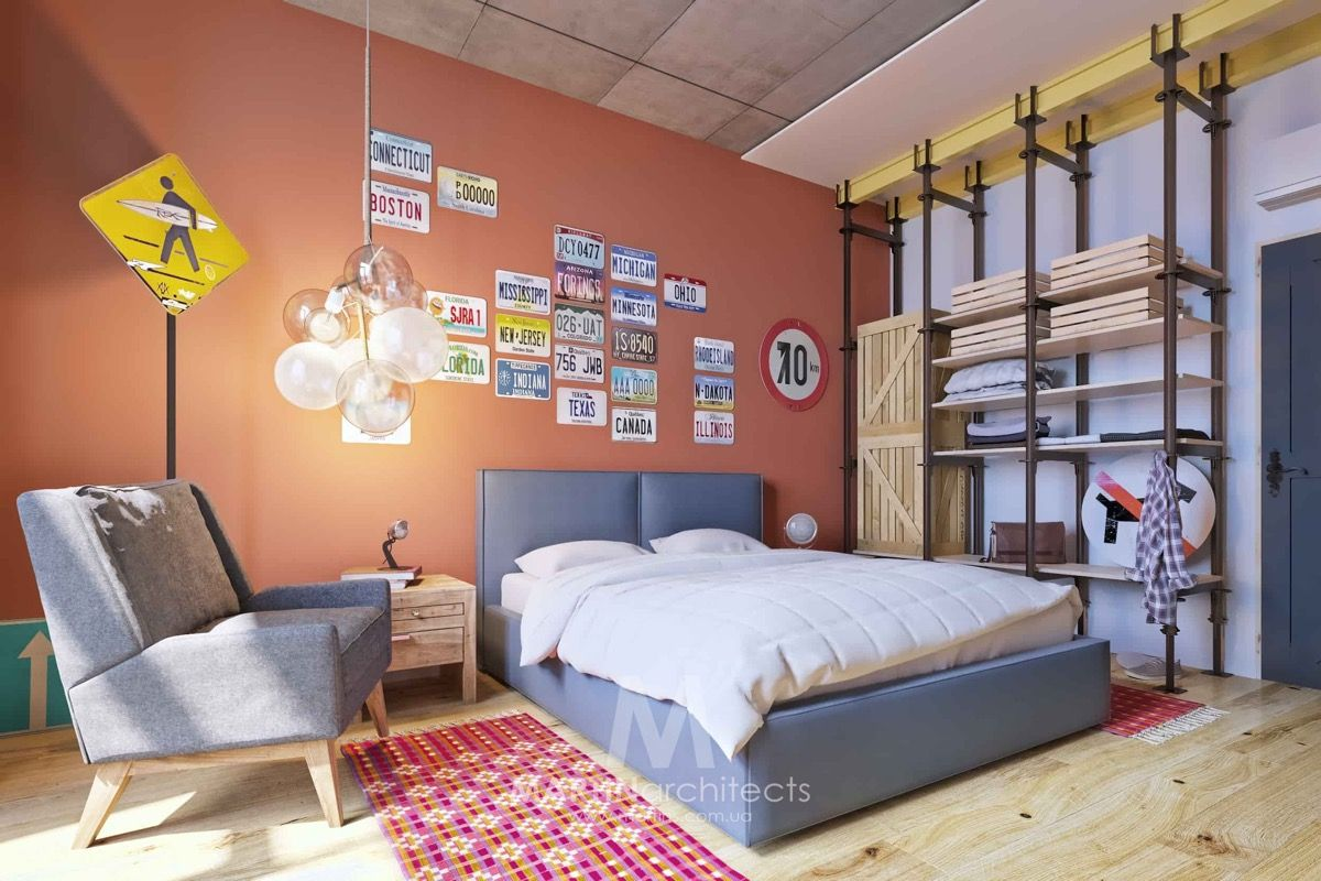 How To Use Colors To Spice Up A Concrete Decor Scheme 3 Examples is part of Industrial Living Room Concrete - Three home tours show how to introduce bold warming colour to a cool concrete interior  Featuring raspberry coloured paint and accents, botanical greens, crisp turquoise, cobalt blue features, yellow closets, a pink kitchen and burnt orange decor ideas