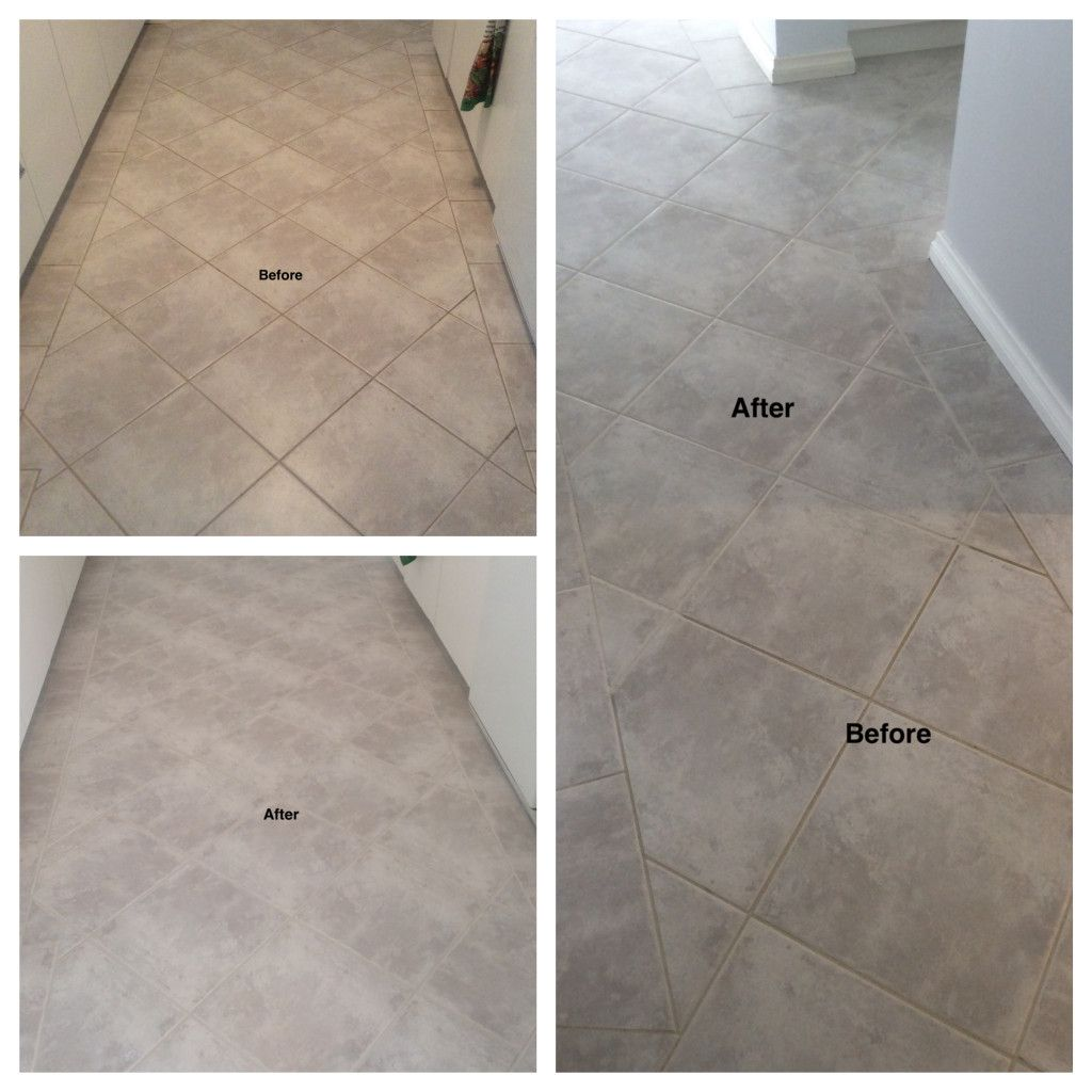 Recently We Transformed A Perth Customers Tile Grout Floor By