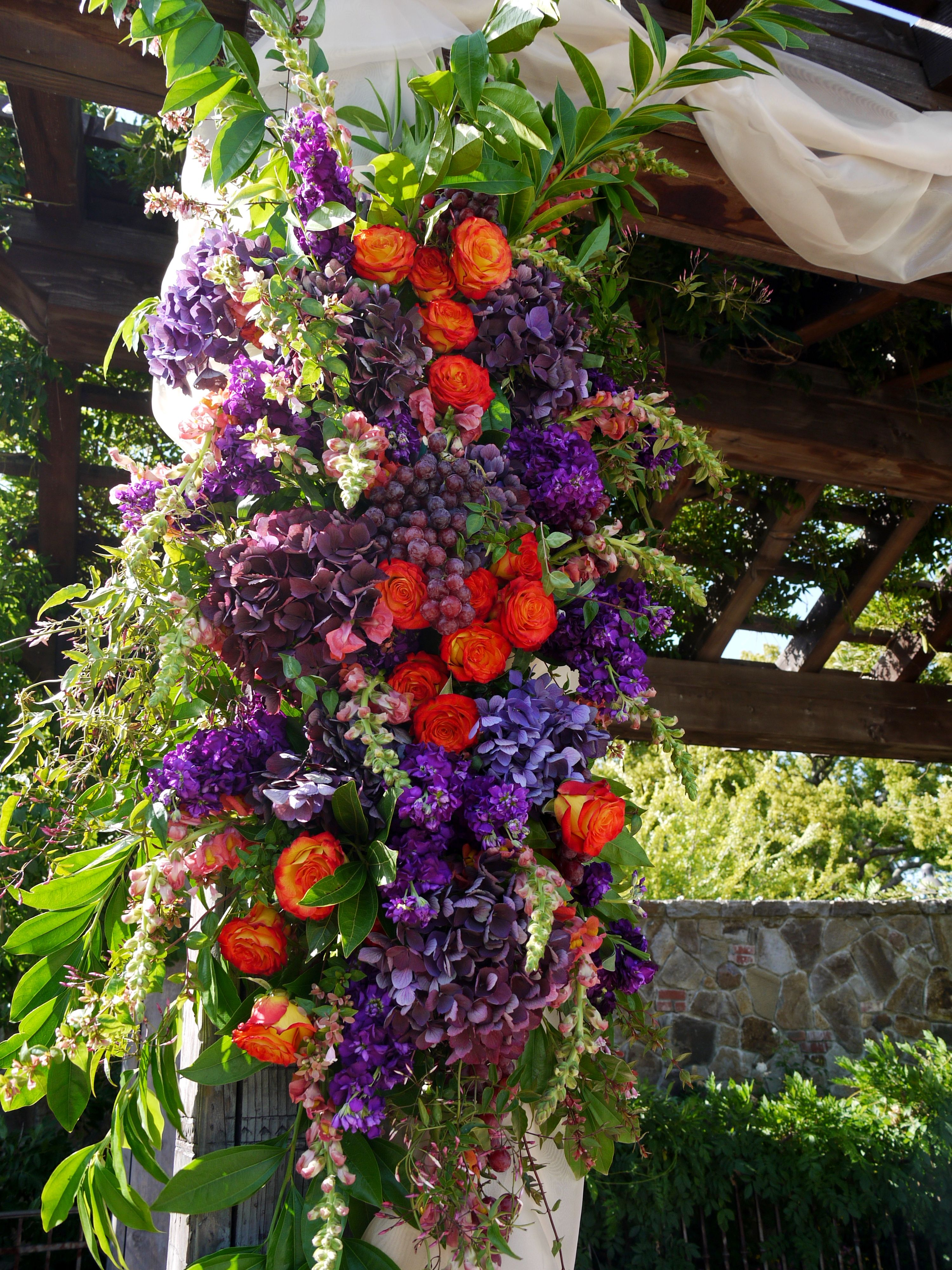 Colorful #chuppah by Michael Daigian Design. #Weddings