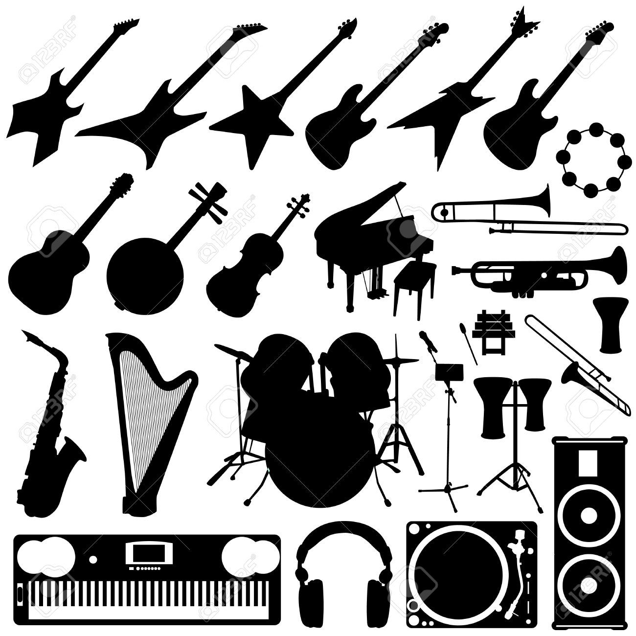 band musical instruments clipart images galleries with a bite. Black Bedroom Furniture Sets. Home Design Ideas