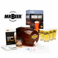 Mr. Beer Brewing Kit with Bar and Pub Glass Set of  4