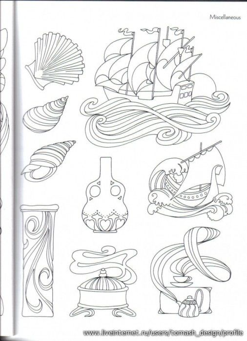 Ornaments and stencils for painting \