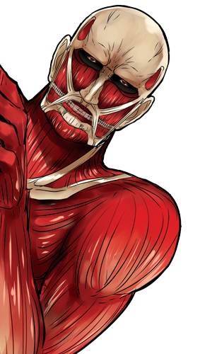 Colossal Titan Ya Ll Better Not Be Touchin My Kool Aid Attack On Titan Anime Attack On Titan Art Titans