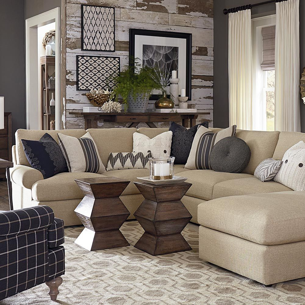 46 Cozy Living Room Ideas And Designs For 2019: Sutton U-Shaped Sectional In 2019