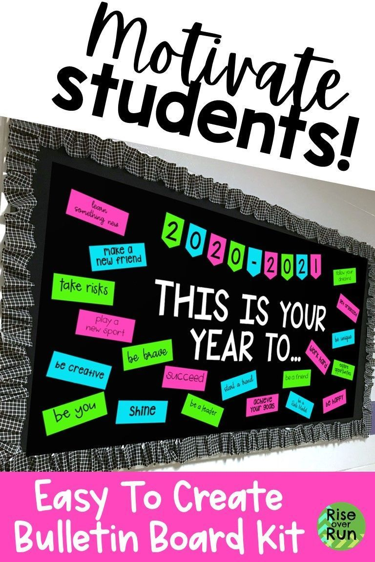 Back To School Bulletin Board Or Door Kit Back To School Bulletin Boards Student Encouragement Student Motivation [ 1152 x 768 Pixel ]