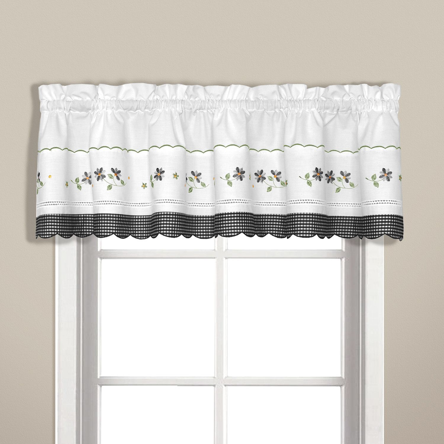 Gingham curtain valance products pinterest gingham curtains