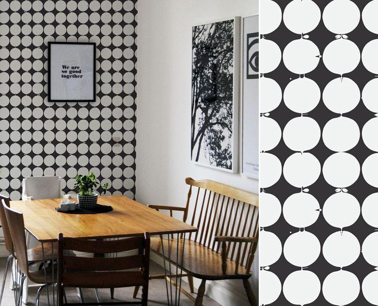 Papier peint tallyho de scandinavian designers wallpaper - Papier peint salle a manger ...